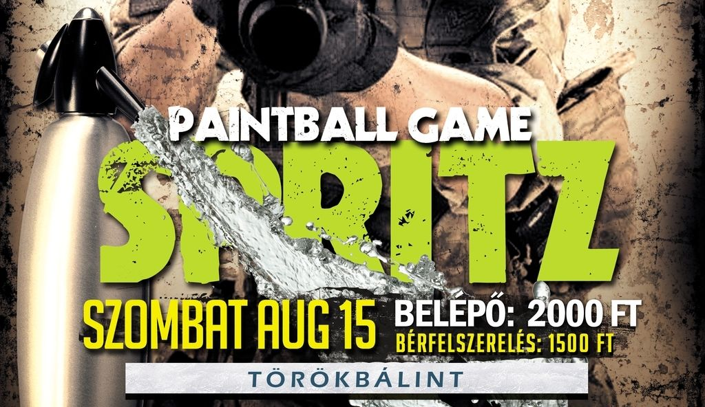 Spritz paintball game