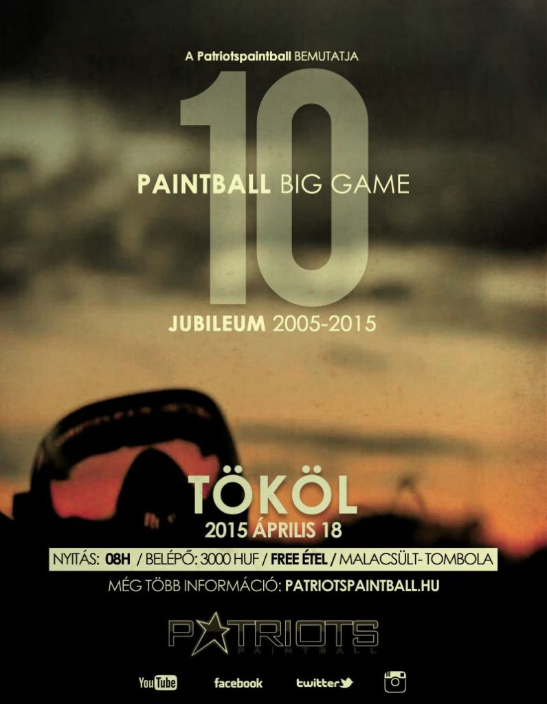 10 Jubileumi Paintball Big Game