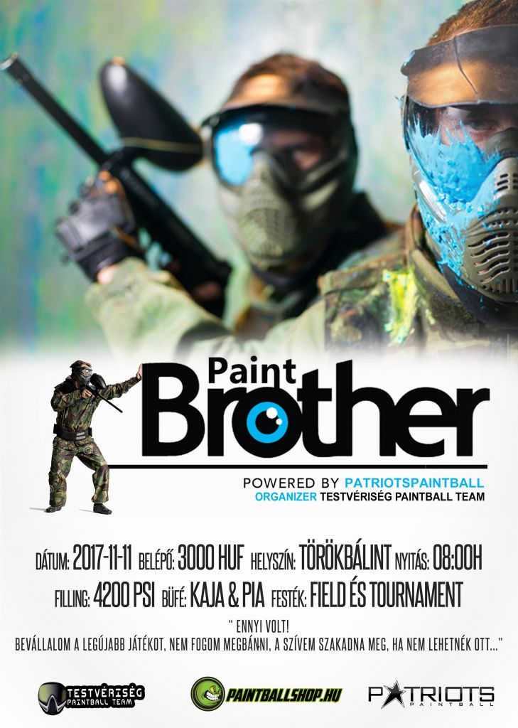 Paint Brothers paintball game Törökbálinton