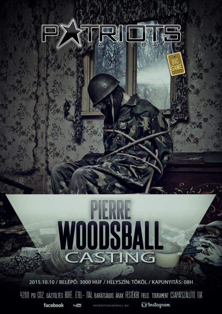 Pierre Woodsball Casting Paintball Big Game