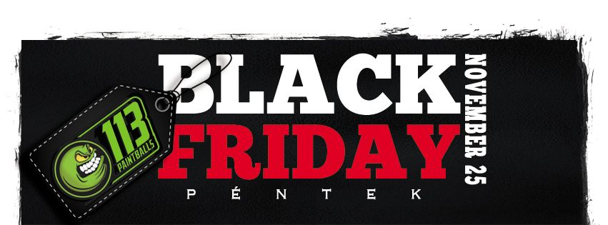 Black Friday a Paintballshop.hu oldalon